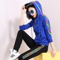 2017 New Hoodies Women Casual Cotton Hooded Sweatshirt Spring/Autumn Fashion Tracksuit Women's Clothing Two Piece Set