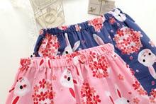 Kawaii sakura rabbit kimono women short pajamas sets Summer MT