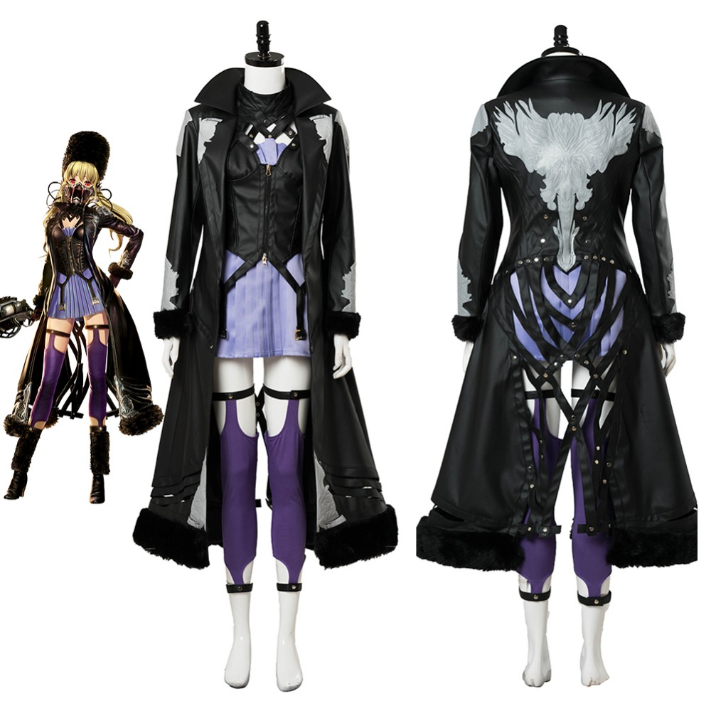 Video Game Code Vein Mia Cosplay Costume  Outfit Uniform Full Suit For Adult Men Women Halloween Carnival Cosplay Costumes