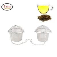 2 Pack Stainless Steel Mesh Tea Bag Strainer Filter Infuser For Loose Leaf Grain Tea Cups