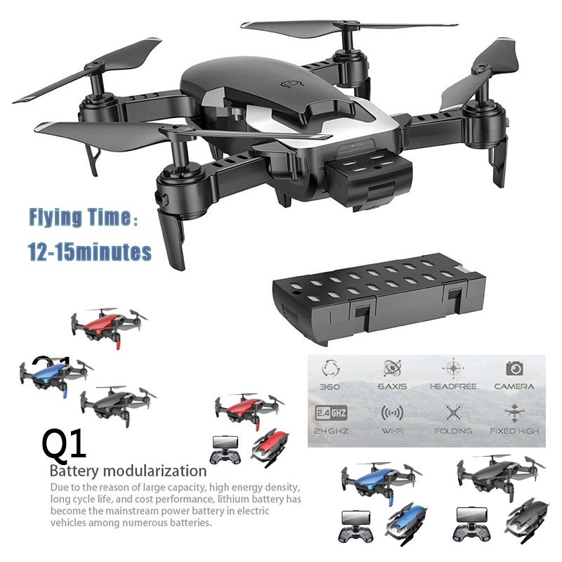 Drones avec caméra HD WIFI FPV hélicoptère 2.0MP Transmission en direct vidéo aérienne Photo une clé retour RC jouets