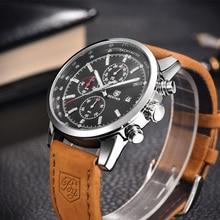 купить Top brand Luxury Benyar Relojes Sports Mens Watches Quartz wristwatch clock Leather Business Waterproof watch Relogio Masculino по цене 2442.42 рублей