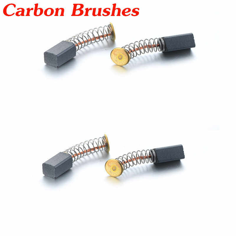 8Pcs Mini Micro Drill Electric Grinder Replacement Carbon Brushes Spare Parts for Electric Motors Dremel Power Tools 4.7x5x8 mm