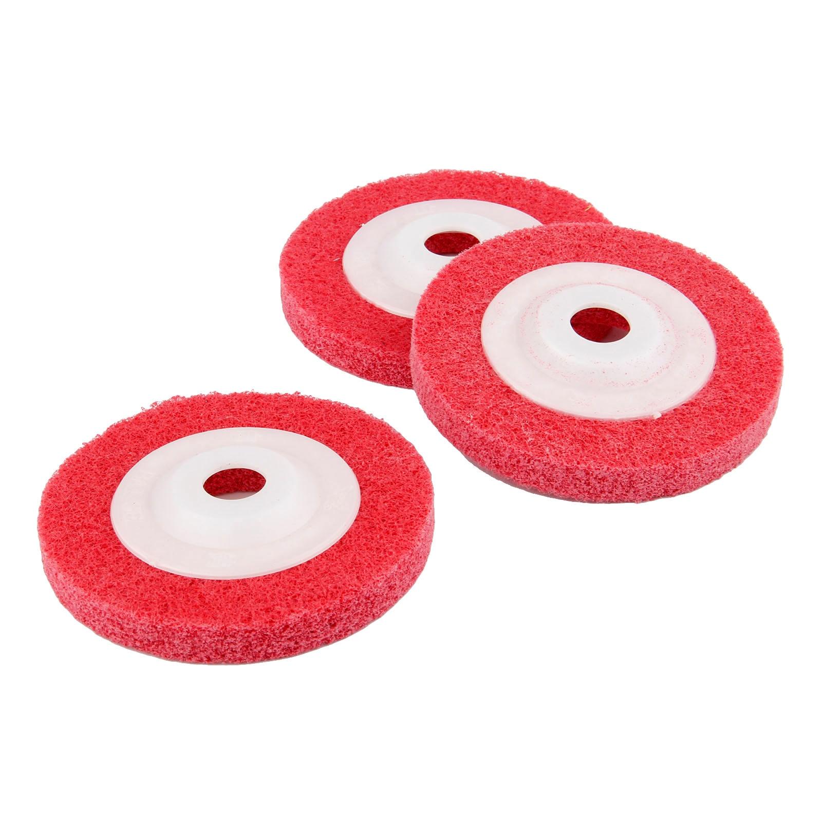 DRELD 1Pc 100mm 4 Inch Fiber Polishing Wheel Buffing Pad Grinding Abrasive Disc For Dremel Rotary Tool 4 Grits 180/240/320