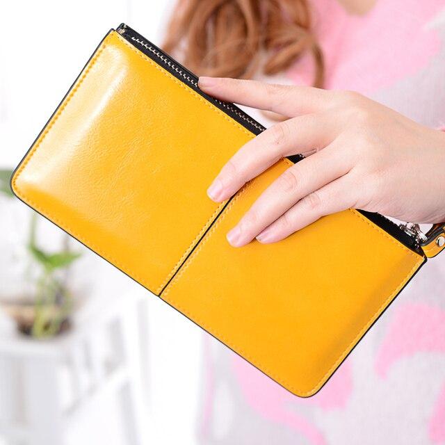 MONNET CAUTHY portefeuille femme concis classique loisirs mode bonbon couleur rouge jaune violet bleu ciel dame organisateur longs portefeuilles