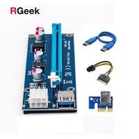Wholesale PCIe 1x To 16x PCI Express Riser Card PCI E Extender 60cm USB 3 0