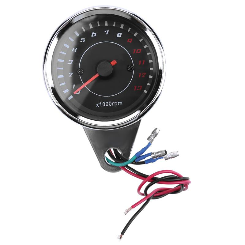 VODOOL 1pc Motorcycle Odometer Speedometer Electronic Induction Tachometer Speed Meter with LED Light High Quantity