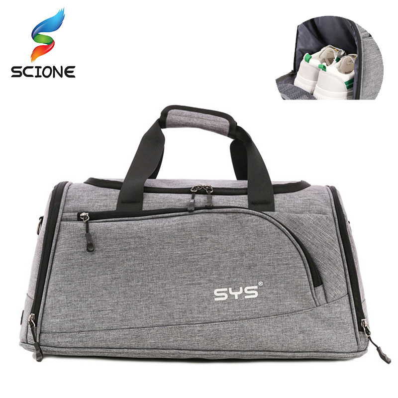 30L Sports Gym Bag Men Women Independent Shoes Storage Totes Soccer Training Handbag Waterproof Outdoor Travel Shoulder Bags