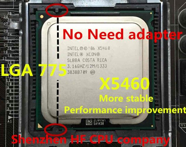Intel Xeon X5460 x5460 Processor 3.16 ГГц 12 МБ 1333 мГц Xeon 775 ЦПУ близко к Q9650 работает на LGA775 плата нет необходимости адаптер