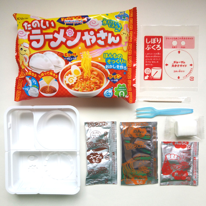 DIY Kracie Popin Cook snoepdeeg Toys.Noodle Dumplings donut animal zoo happy kitchen Japans eten snoep snacks maken ramen