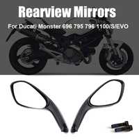 Rearview Mirrors for Ducati Monster 659 696 796 1100/S/EVO 1100 S EVO 2008 2009 2010 2011 2012 2013 2014 2015 Rear View Mirror