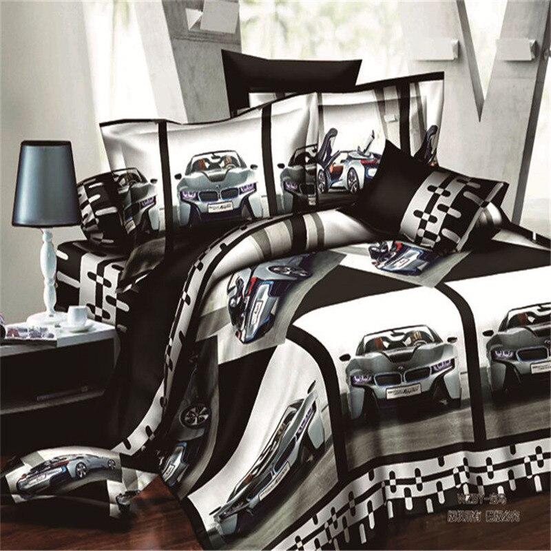 Textiles de maison, Noir BMW Style 3D Ensembles de Literie 4 Pcs