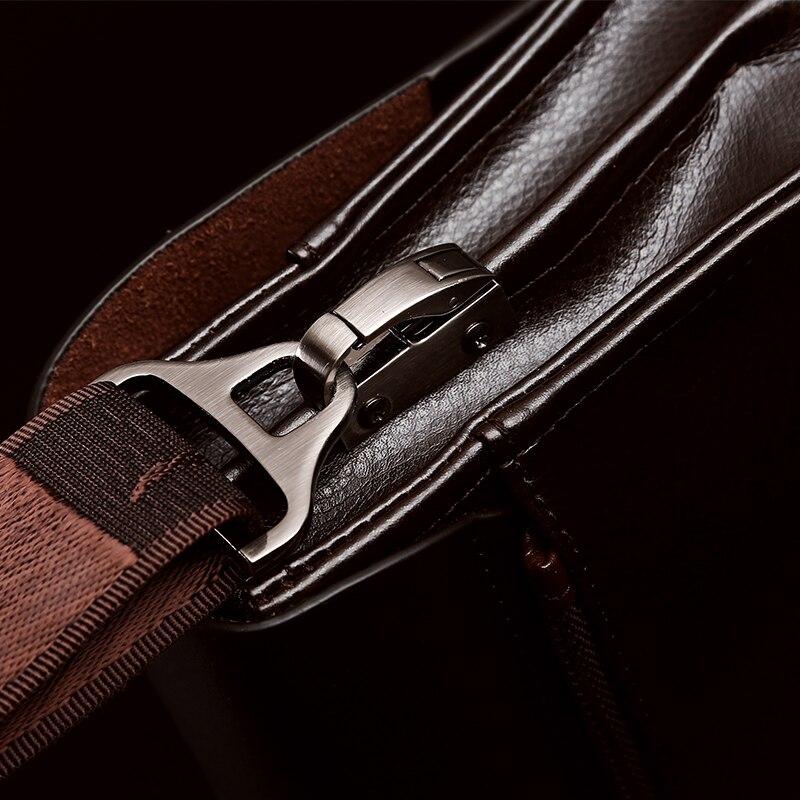 bolsa de couro homens sacolas Size : 27x23x8cm