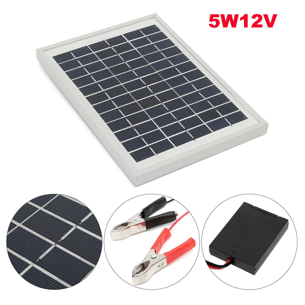 KINCO 12V 5W Solar Panel Charger PolyCrystalline Cells DIY Car Phone Battery Charger With 10A 12/24V Solar Controller high quality 18v 2 5w polycrystalline stored energy power solar panel module system solar cells charger 19 4x12x0 3cm