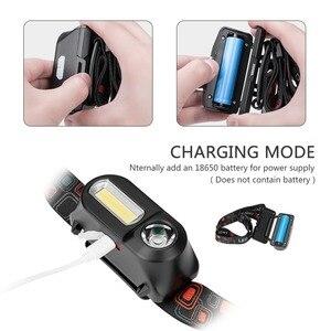 Image 3 - SANYI 3800LM LED פנס 7 מצבי פנס USB נטענת 18650 סוללה פנס מצח לקמפינג ציד זרוק חינם