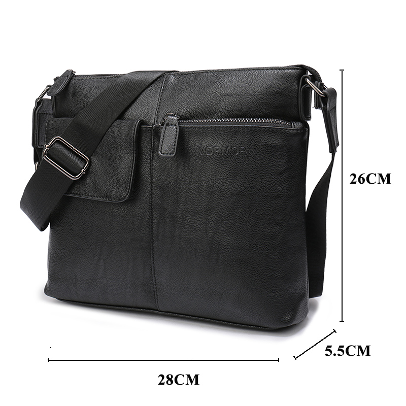 93cf6a67cd21 Aliexpress.com   Buy VORMOR New Arrival Fashion Business Leather Men  Messenger Bags Promotional Small Crossbody Shoulder Bag Casual Man Bag from  Reliable ...