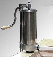 Дома применение Колбаса чайник 4L, руководство колбаса наполнителя машина, машина для производства колбасы