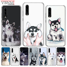 Cute Husky Smile Special Silicone TPU back Case For Huawei Mate 10 20 Pro Lite 20X S RS Y6 Y7 Y9 2019 Gift Customized Cover Capa
