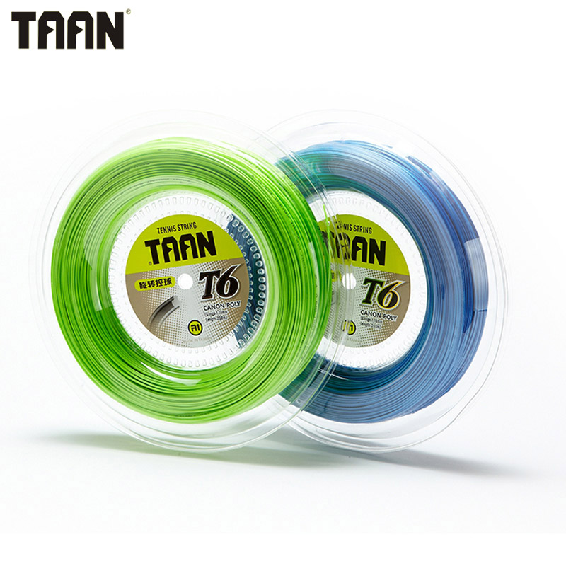 TAAN 1.18mm Tennis Racket String Poly Tennis Training Control 200m Reel Green Blue String 1pc taan tt8700 tennis string flexibility tennis racquet string soft poly string rackets string 1 1mm