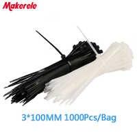 1,8*100mm 1000 unids/bolsa nueva llegada de plástico de Nylon Cable Zip sujetar de envoltura de alambre de la correa Venta caliente