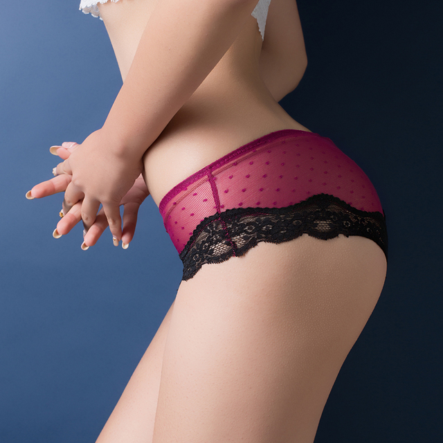 Women Sexy  Low Waist Lace Panties   from Cotton