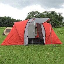 Один зал две спальни Ultralarge двойной слой 4-6 человек использование Водонепроницаемый Палатка семейная палатка Carpas De Camping