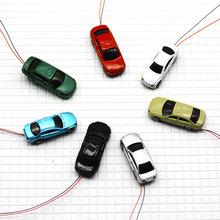Light cars for architecture scale model 1:75 model trains layout plastic cars 100pcs цена