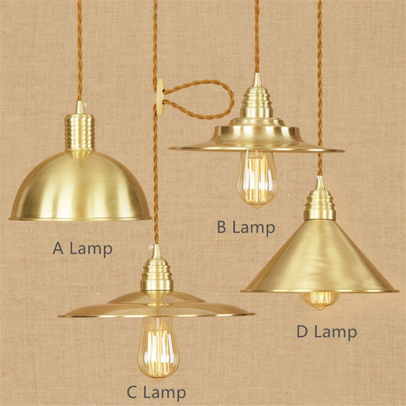 Modern R Copper Chandeliers Simple Bedroom Living Room Copper Decoration Lamp European Luxury Court Art Lamp Free Shipping