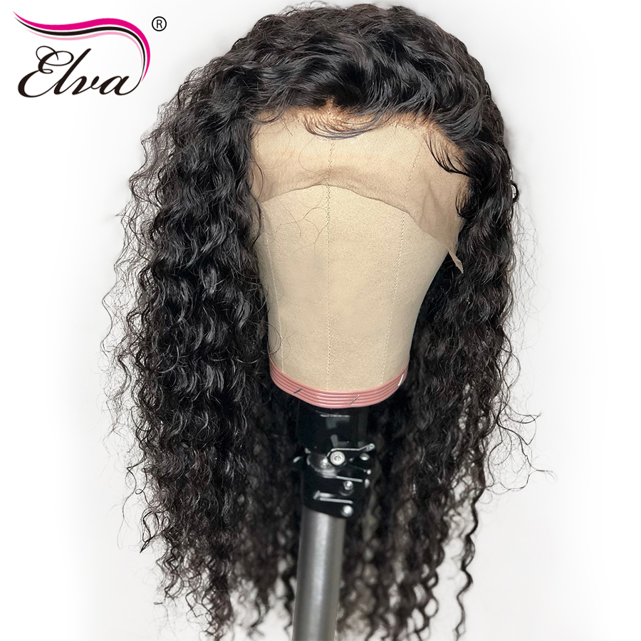 360 Lace Frontal Human Hair Wigs Brazilian 360 Lace Frontal Wig Pre Plucked With Baby Hair Curly Remy Hair Short Bob Wigs Elva