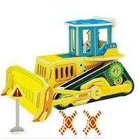 Colorful Wooden Model Kit Children Gift Educational 3D Model Puzzle Wooden Educational Toy 3D Puzzle Games
