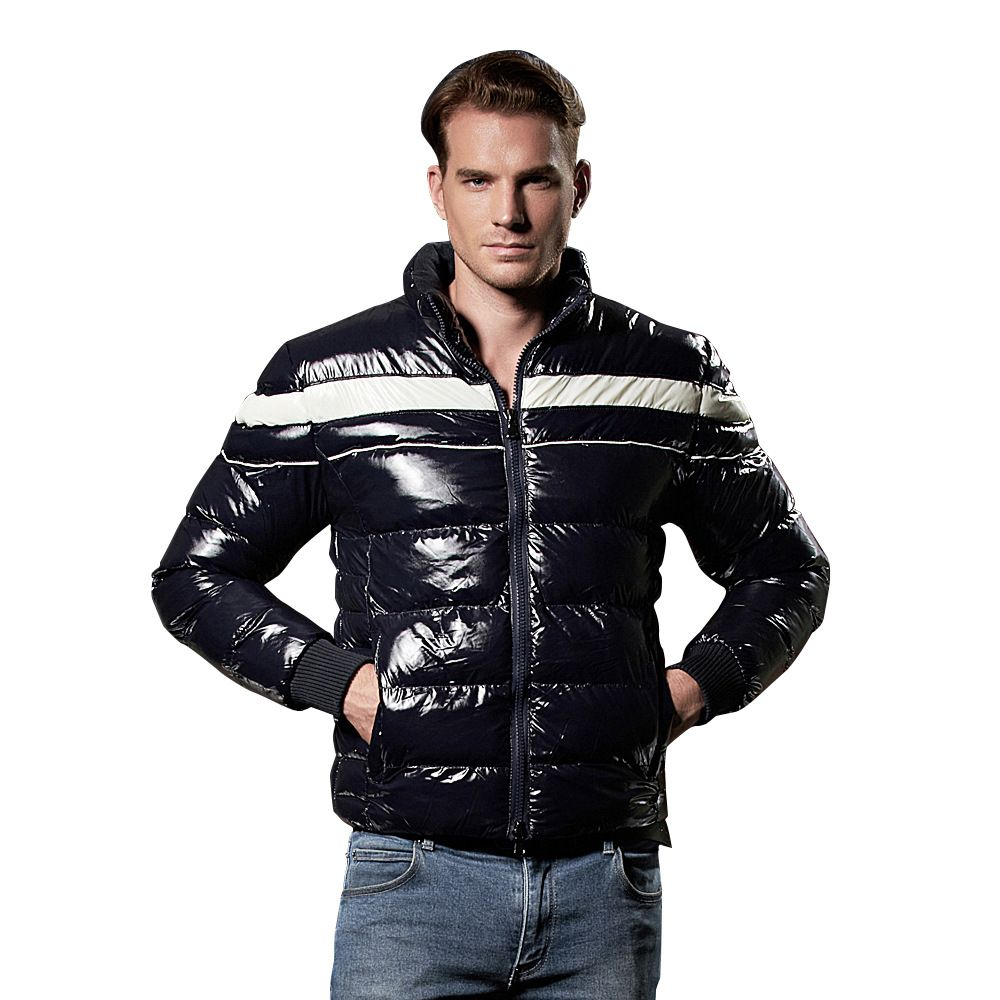 US size 2017 Winter Fashion Slim fit Short down Jacket Male Windproof Coldproof Windbreaker Male Thicken Warm Parka Coats 080207
