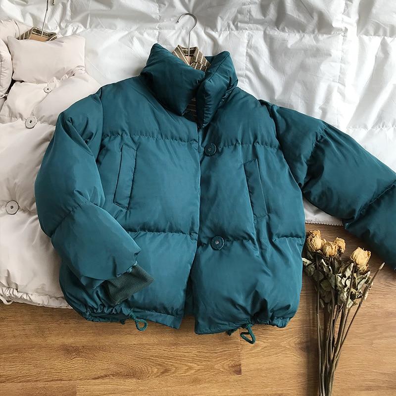 CamKemsey Thicken Women Parkas 18 New Casual Turtleneck Loose Down Jacket Female Warm Cotton Padded Winter Coat Women 15