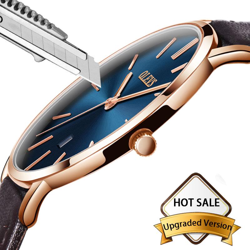 Ver hombres famosos de la marca de lujo reloj de pulsera relojes para  hombre de cuero de deporte impermeable fecha automática reloj de pulsera  reloj de ... a3341002efaf