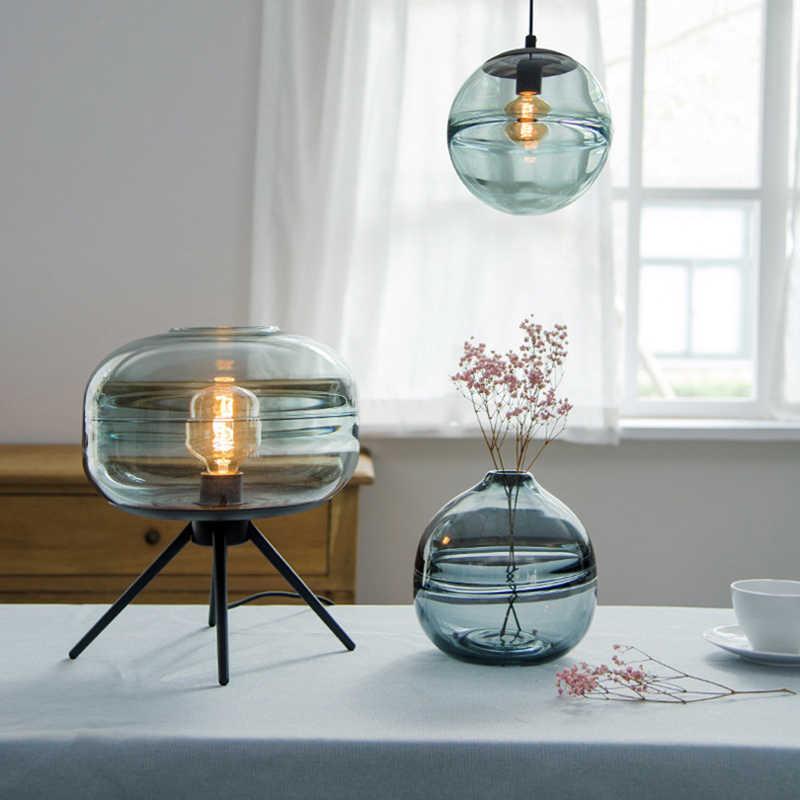 Современные индивидуальные настольные лампы со стеклянным шаром для гостиной, спальни, прикроватной тумбочкой, гостиничного номера, ресторана, декоративные настольные лампы