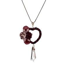 202d35c3837e Las mujeres étnicas corazón flor collares largos y colgante de cristal de  madera perlas redondo suéter collar joyería DE LA DECL.