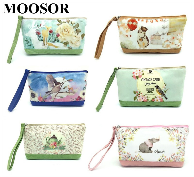 2017 New Cartoon Women's Purse Ladies Day Clutches Coin Purses Vintage Women Storage Bags Purse for Coins Women Wallet Pouch H63 2017 hot sale women s purse ladies day clutches coin purses women bags purse for coins mini clutch women wallet zipper bag py101