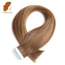 """Addbeauty 18 """"20"""" 22 """"100% бразильский Реми Пряди человеческих волос для наращивания 20 шт./упак. Клейкие ленты в волос утка кожи 40 г"""