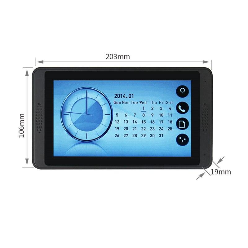 Yobang Безопасность Видео домофон Handsfree ночного видения дверь камера колокол цветной сенсорный монитор 7 дюймов громче динамик видео Interco - Цвет: 620