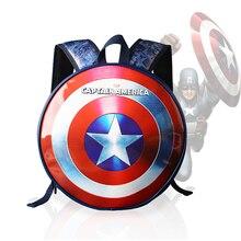 High Quality Marvel the Avengers Captain America Backpack Laptop Backpacks Mochila PU Leather Bagpack Computer Bagsk