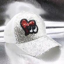 SUOGRY 2019 Summer Parent-Child Sequin Baseball Cap Baby Mesh Hat Snapback hat Bone Adjustable ladies Wholesale