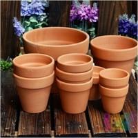 052734 3 Piece Lot 9 9cm Red Clay Pot Meaty Plant Flowers Grow Ceramic Flower Pot