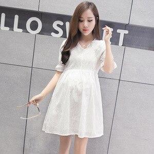 Image 2 - סיעוד שמלת נשים קצר שרוול הנקה קיץ שמלת עבור האכלת יולדות הריון בגדים בתוספת גודל סיעוד שמלה