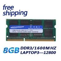 KEMBONA best price sell 1.35V DDR3L 1600 MHz DDR3 PC3L 12800S 8GB SO DIMM Memory Module Ram Memoria for Laptop / Notebook