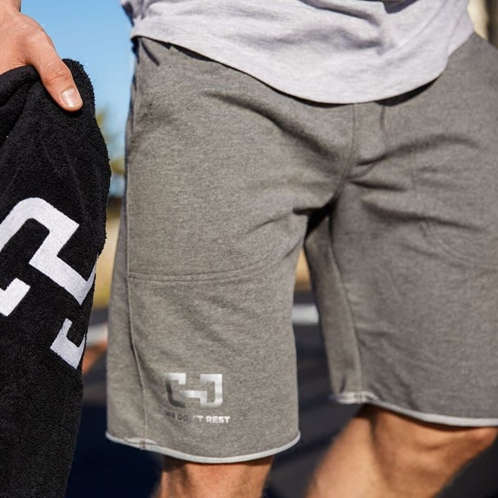 Men Casual Exercise Workout Fitness Summer Outerwear Skinny Elastic Shorts Beach Fashion Slim Fit Solid