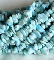"Natural Genuine Blue Larimar Nugget Chip Loose Beads Free Form 3x8mm Fit Jewelry Necklace Bracelets 15"" 04143"