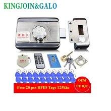 System kontroli dostępu do drzwi i bram z pojedynczym/podwójnym dostępem elektroniczny zintegrowany zamek z napędem RFID z czytnikiem RFID 20 szt. Identyfikatorów