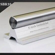 Одежда высшего качества с ЧПУ линейные рельсовая линейная направляющая SBR10 Длина 500 мм ЧПУ Цилиндр Вал+ Алюминий Поддержка