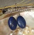 Lapis Lazuli Natural Oval brincos de pedra