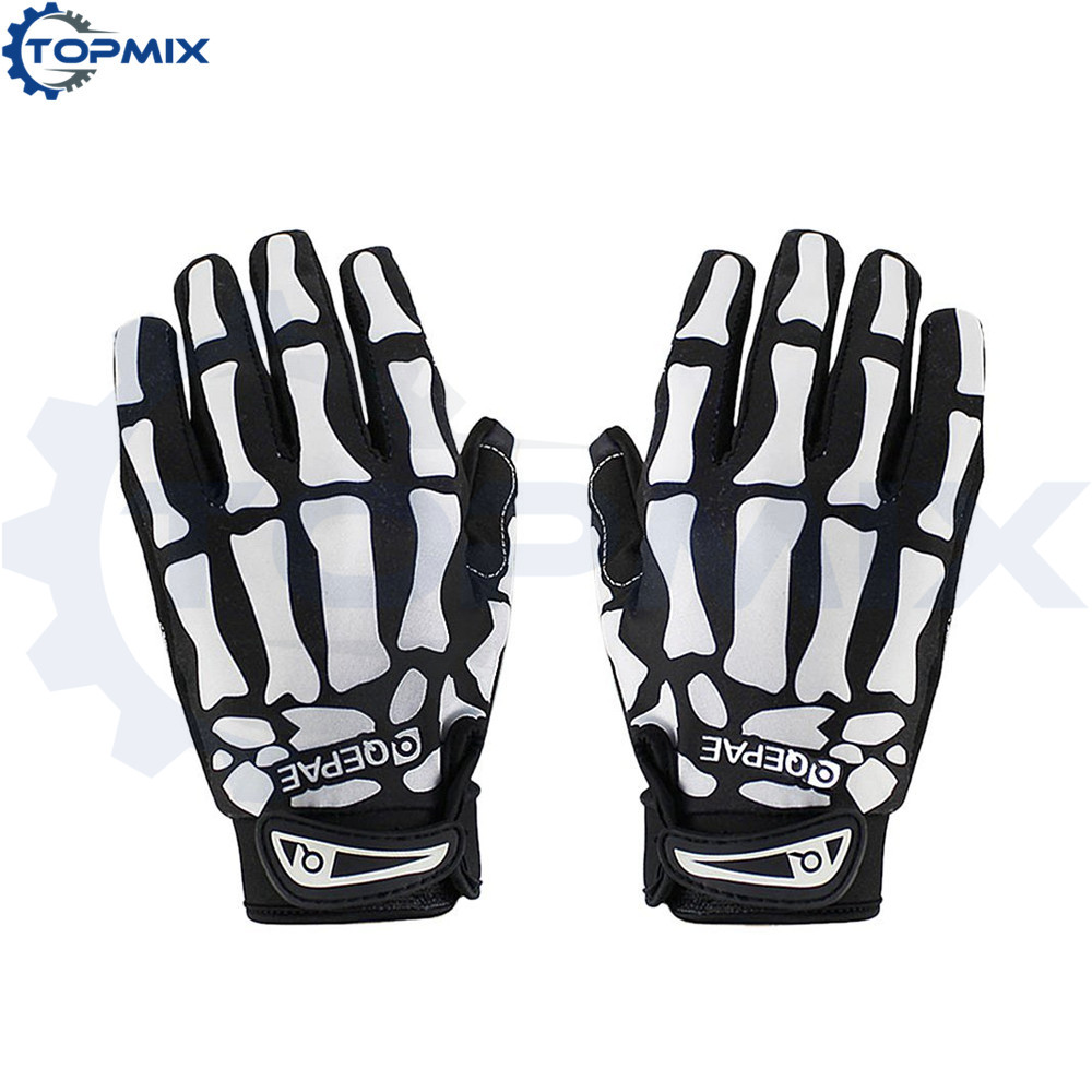 Unisex Cycling Color Graffiti Non-slip Bicycle Gloves Riding Full Finger