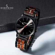 レロジオ masculino 2020 ボボ鳥男性クォーツ腕時計木製腕時計時計ギフト木箱 V S19